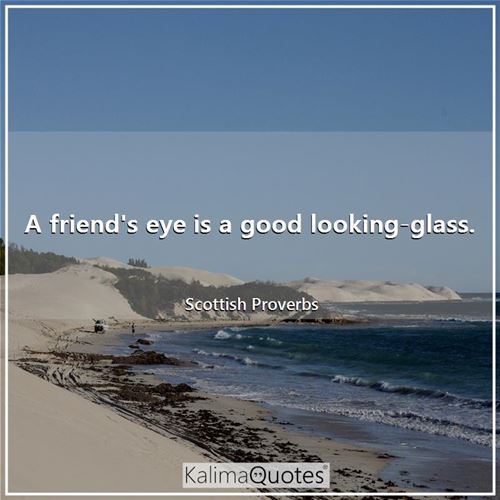 A friend's eye is a good looking-glass.