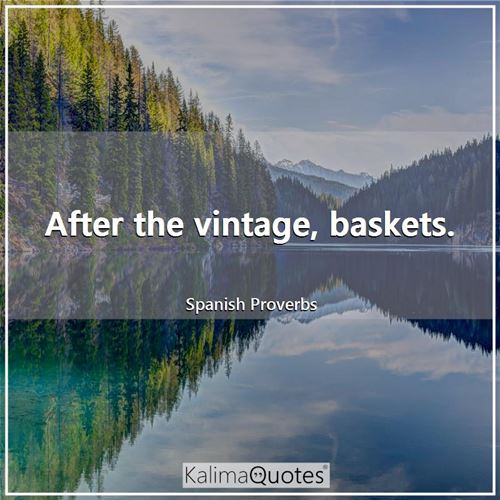 After the vintage, baskets.