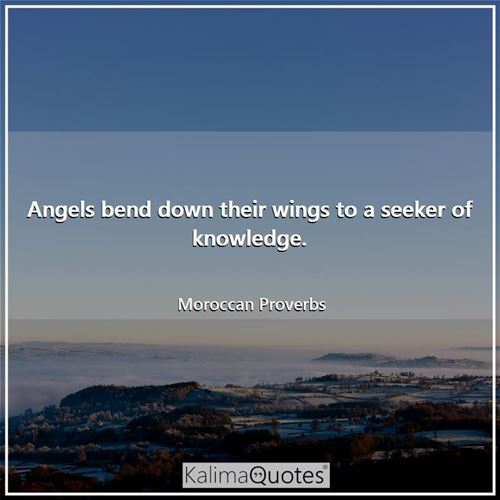 Angels bend down their wings to a seeker of knowledge.