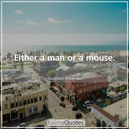 Either a man or a mouse.