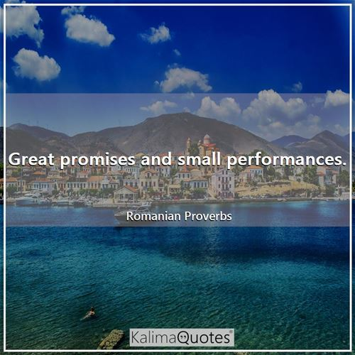 Great promises and small performances.