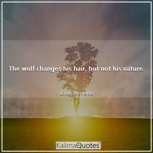 The wolf changes his hair, but not his nature.