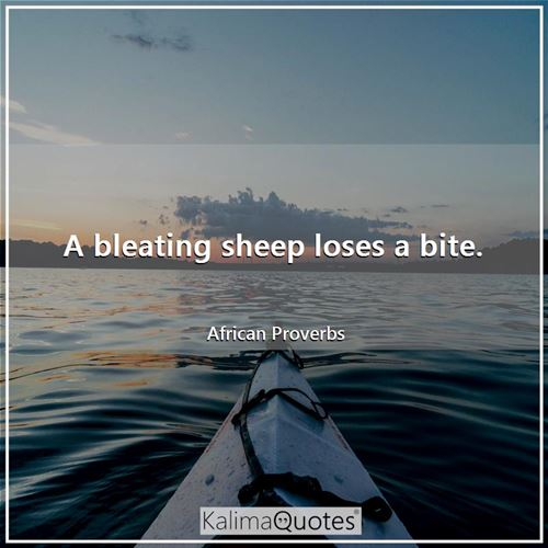 A bleating sheep loses a bite.