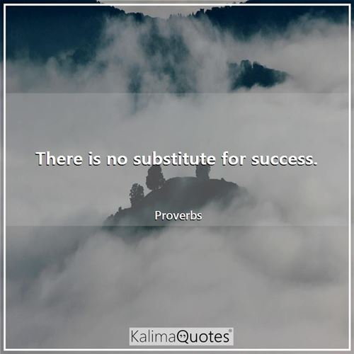 There is no substitute for success.