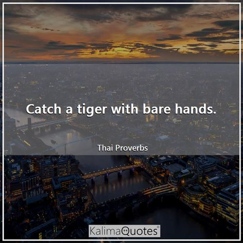 Catch a tiger with bare hands.