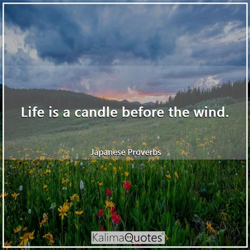 Life is a candle before the wind.
