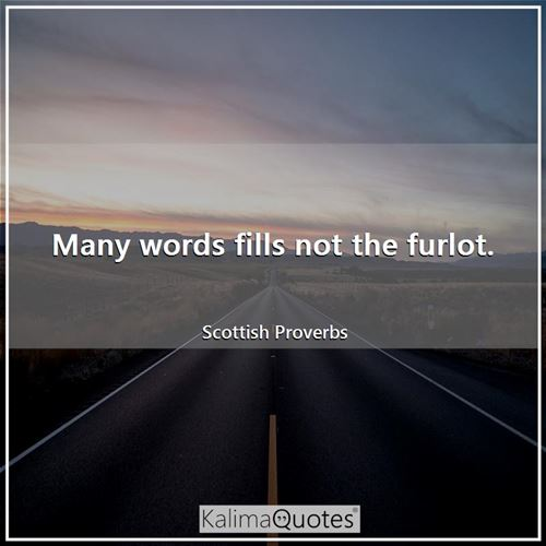 Many words fills not the furlot.
