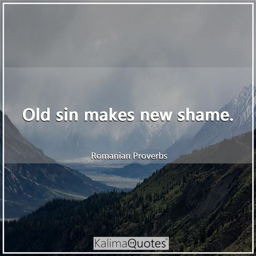 Old sin makes new shame.