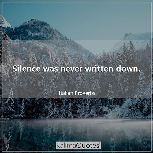 Silence was never written down.