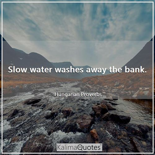 Slow water washes away the bank.