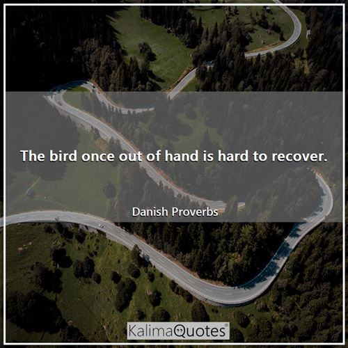 The bird once out of hand is hard to recover.