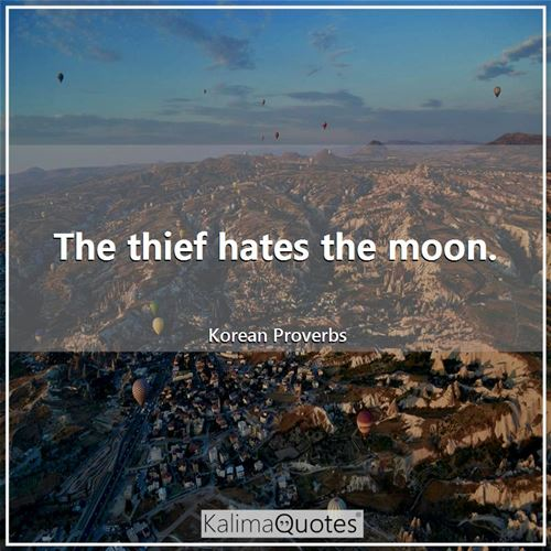The thief hates the moon.