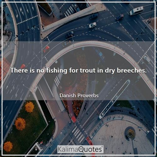There is no fishing for trout in dry breeches.