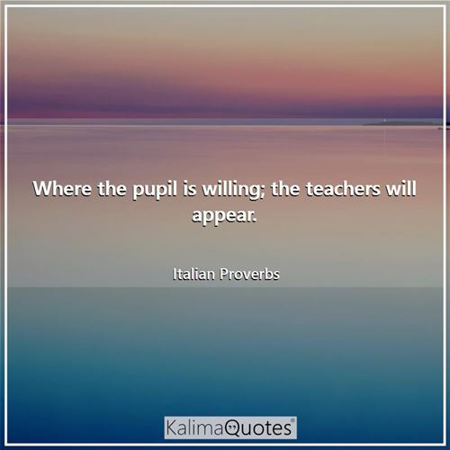 Where the pupil is willing; the teachers will appear.