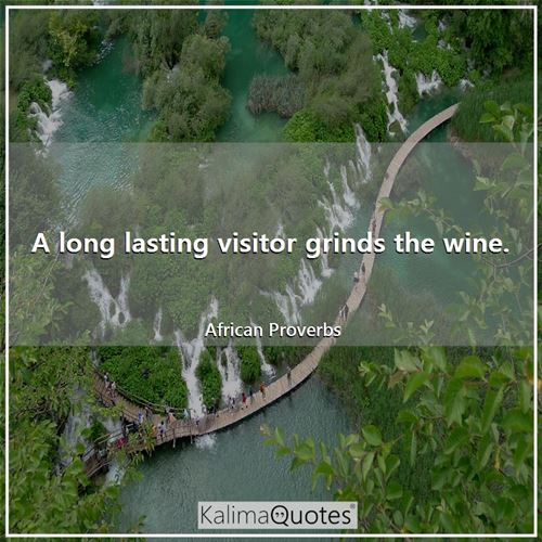 A long lasting visitor grinds the wine.