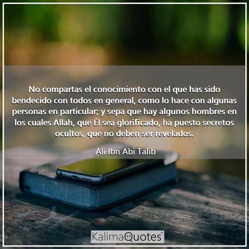 No Compartas El Cono Ali Ibn Abi Talib Kalimaquotes